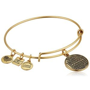 Alex and Ani Positive languages bracelet gold